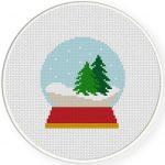 Snow Globe Cross Stitch Illustration