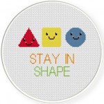 Stay In Shape Cross Stitch Illustration