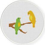 Sweet Birds Cross Stitch Illustration