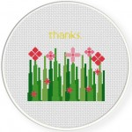 Thanks Cross Stitch Illustration