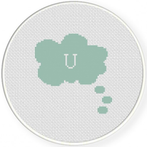 Thinking Of U Cross Stitch Illustration