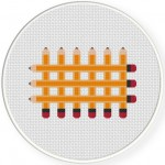 Waffle Pencil Cross Stitch Illustration