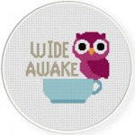Wide Awake Cross Stitch Illustration