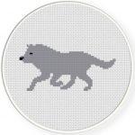 Wolf Cross Stitch Illustration