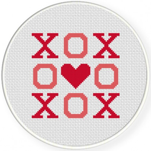 XOX Cross Stitch Illustration