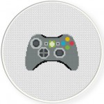 Xbox 360 Gamepad Cross Stitch Illustration