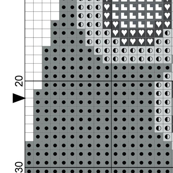 Xbox gamepad cross stitch pattern daily