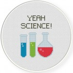 Yeah Science! Cross Stitch Illustration