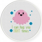 8 Times Hug Cross Stitch Illustration