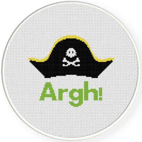 Argh Cross Stitch Illustration