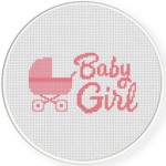 Baby Girl Cross Stitch Illustration