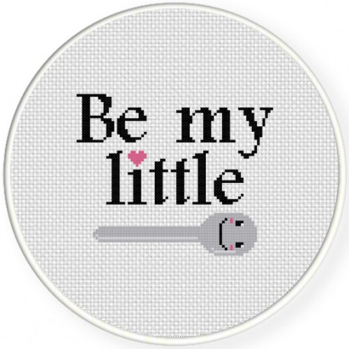 Be My Little Spoon Cross Stitch Illustration