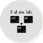 Ctrl Alt Delete Cross Stitch Illustration