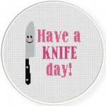 Have A Knife Day Cross Stitch Illustration