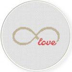 Infinite Love Cross Stitch Illustration