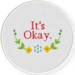 It's Okay Cross Stitch Illustration