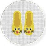 Kitty Doll Shoes Cross Stitch Illustration