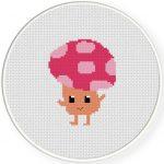 Mushroom Guy Cross Stitch Illustration