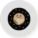 Pluto Love Cross Stitch Illustration