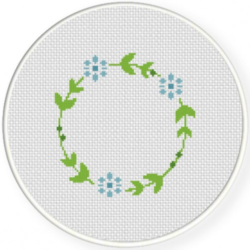 Floral Wreath Cross Stitch Pattern