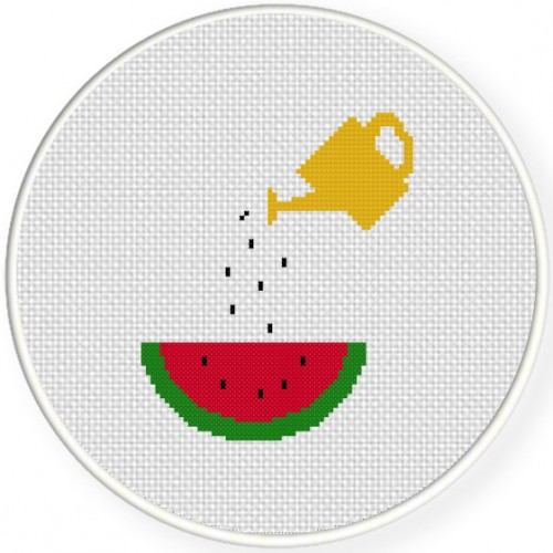 Seed Sprinkler Cross Stitch Illustration