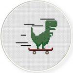 SkaT-rex Cross Stitch Illustration