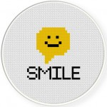 Smile! Cross Stitch Illustration