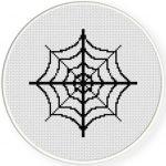 Spider Web Cross Stitch Illustration