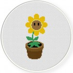Sunflower Cross Stitch Illustration