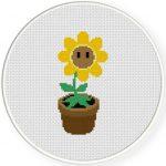 Sunflower Cross Stitch Illustration