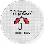 Take This Cross Stitch Illustration