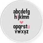 The Alphabet Cross Stitch Illustration