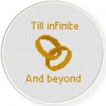 Till Infinite And Beyond Cross Stitch Illustration