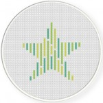 Twinkle Star Cross Stitch Illustration