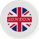 UK Flag Cross Stitch Illustration