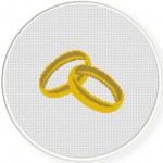 Wedding Ring Cross Stitch Illustration