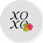 XO Cross Stitch Illustration