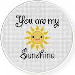 You Are My Smiling Sunshine Cross Stitch Illustration