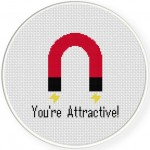 You're Attractive Cross Stitch Illustration