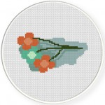 3 Flowers Cross Stitch Illustration