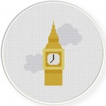 Big Ben Cross Stitch Illustration