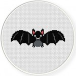 Cute Bat Cross Stitch Illustration