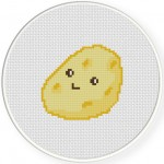 Cute Potato Cross Stitch Illustration