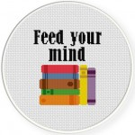 Feed Yo Mind Cross Stitch Illustration