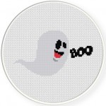 Funny Ghost Cross Stitch Illustration