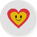 Happy Heart Cross Stitch Illustration