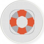 Life Buoy Cross Stitch Illustration
