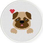 Loving Dog Cross Stitch Illustration