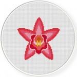 Orchid Cross Stitch Illustration