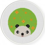 Panda Peep Cross Stitch Illustration